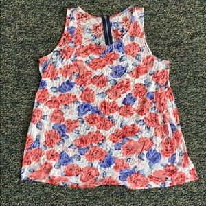 Relativity Sheer Floral Tank Top Size 1X
